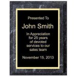 Improved Black Marble Plaque Achievement Awards