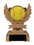 Softball Victory Wing Resin Figure - Copy Multi-Activity Mylar Resin Trophy Awards