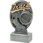 Pinwheel Script Track Resin Pinwheel Script Resin Trophy Awards